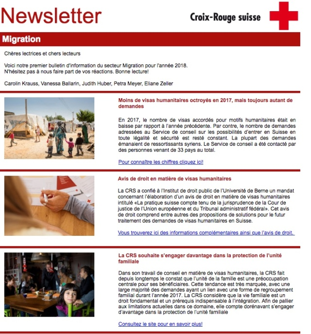 Newsletter Croix Rouge